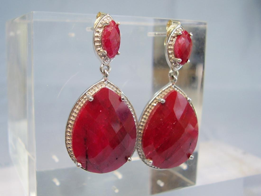 Ruby drop earrings - 6