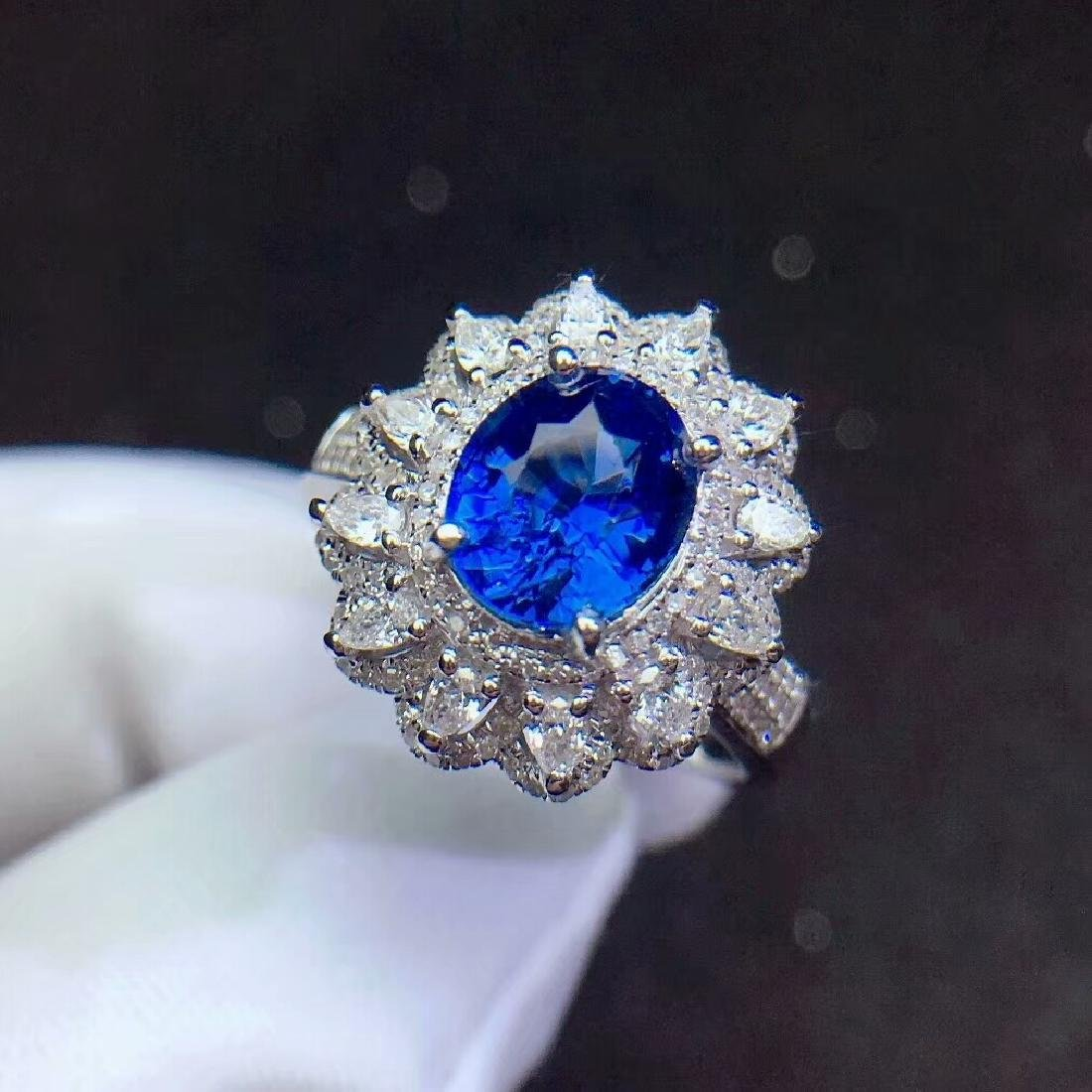 1.52ct Sapphire Ring in 18kt Rose Gold - 2