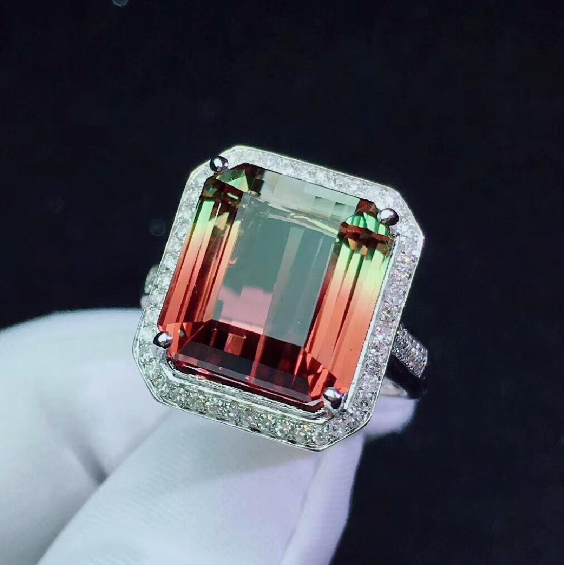 14.5ct Tourmaline Ring in 18kt white Gold - 2
