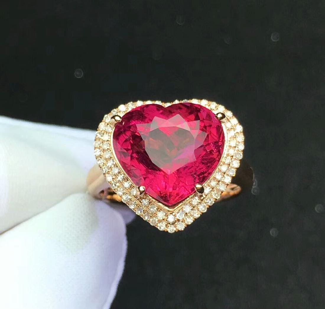 8.6ct Tourmaline Ring in 18kt Rose Gold