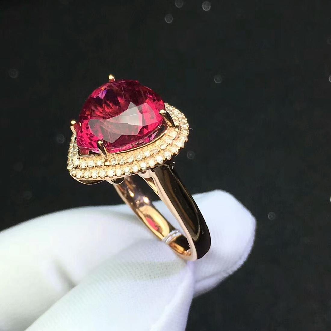 8.6ct Tourmaline Ring in 18kt Rose Gold - 5