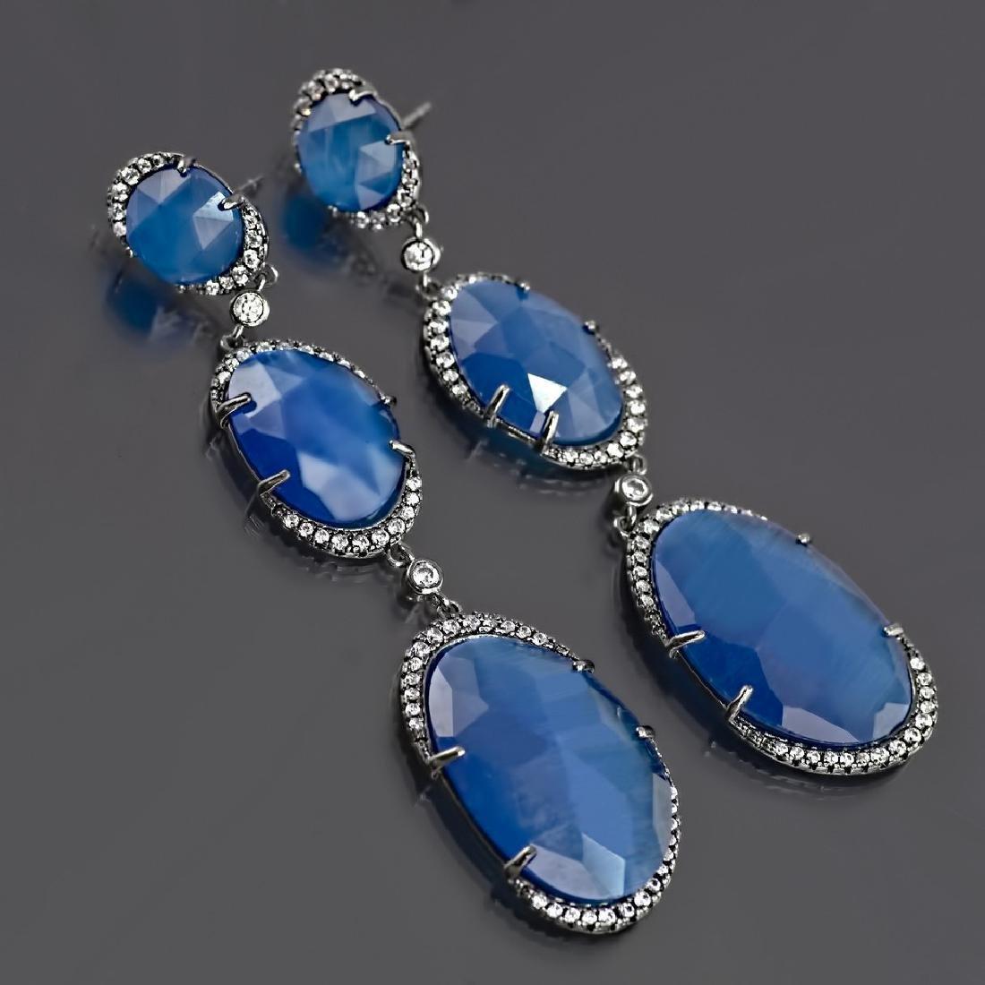 Long 'Blue Symphony' Earrings - 2