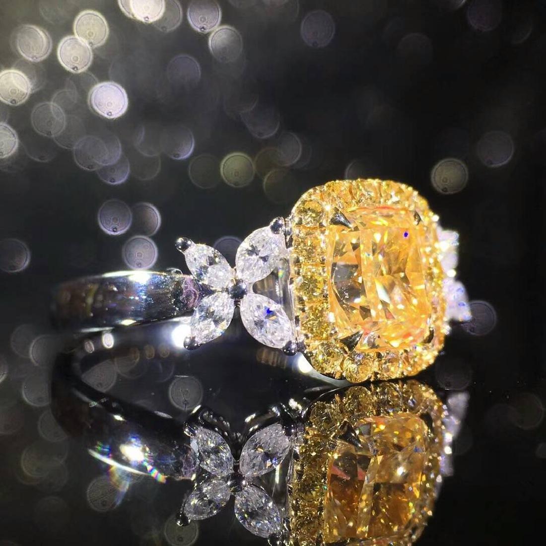 1.00 CTW VS Yellow Diamond Ring 18K