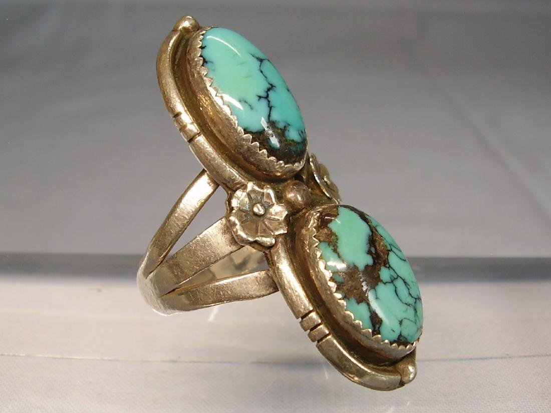 Navajo Turquoise Ring - 2