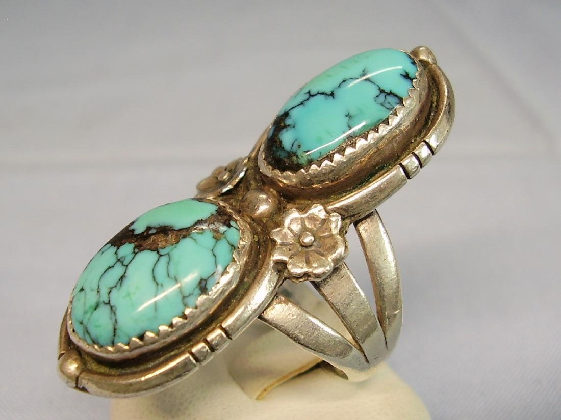Navajo Turquoise Ring - 4