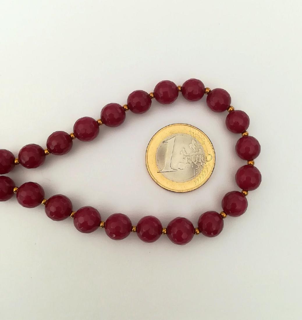 19,2 carats - Necklace Rubis 8 mm Facetados with clasp - 5