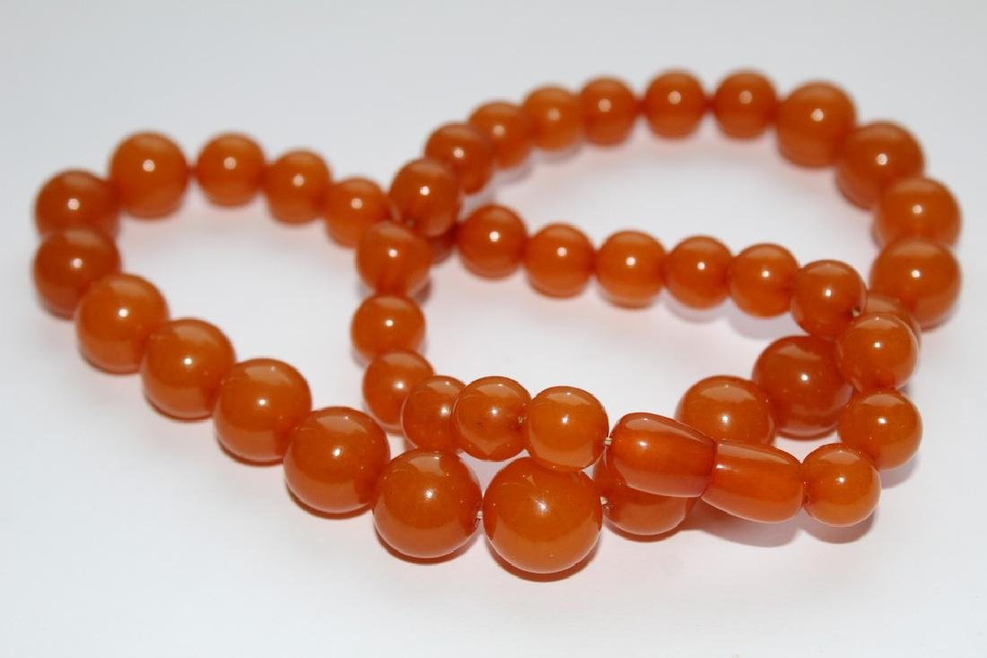 Natural amber necklace-51 cm