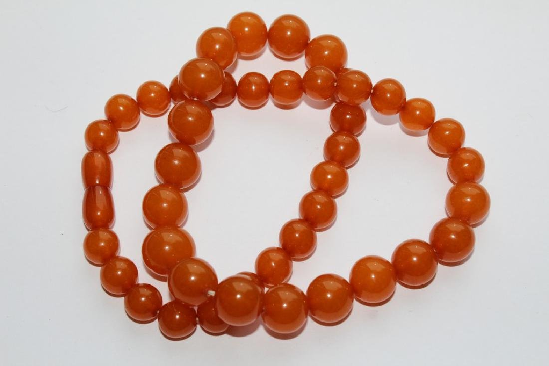 Natural amber necklace-51 cm - 2
