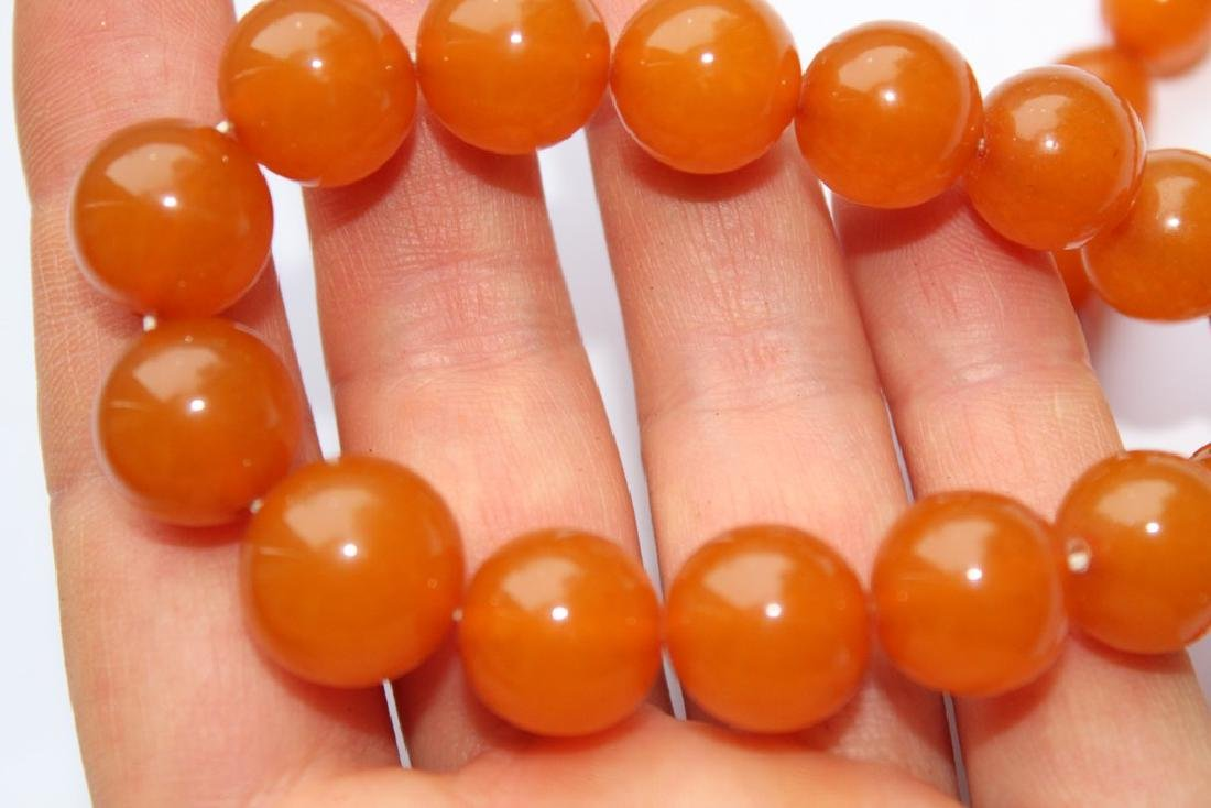 Natural amber necklace-51 cm - 3