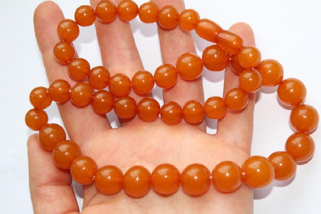 Natural amber necklace-51 cm - 4