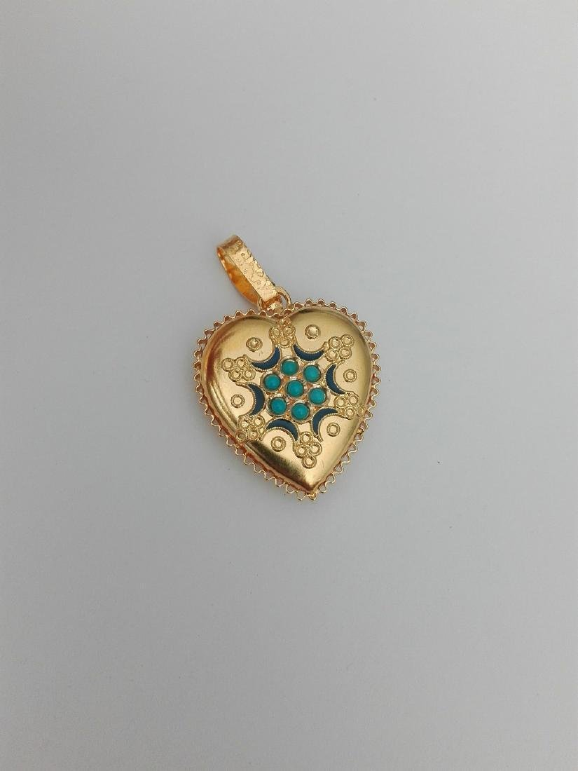 19.2 carat gold pendant Portuguese manual filigree work - 4