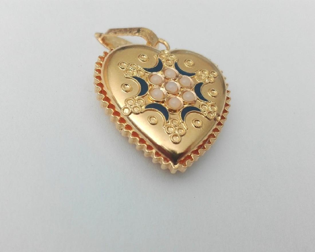 19.2 carat gold pendant Portuguese manual filigree work - 6