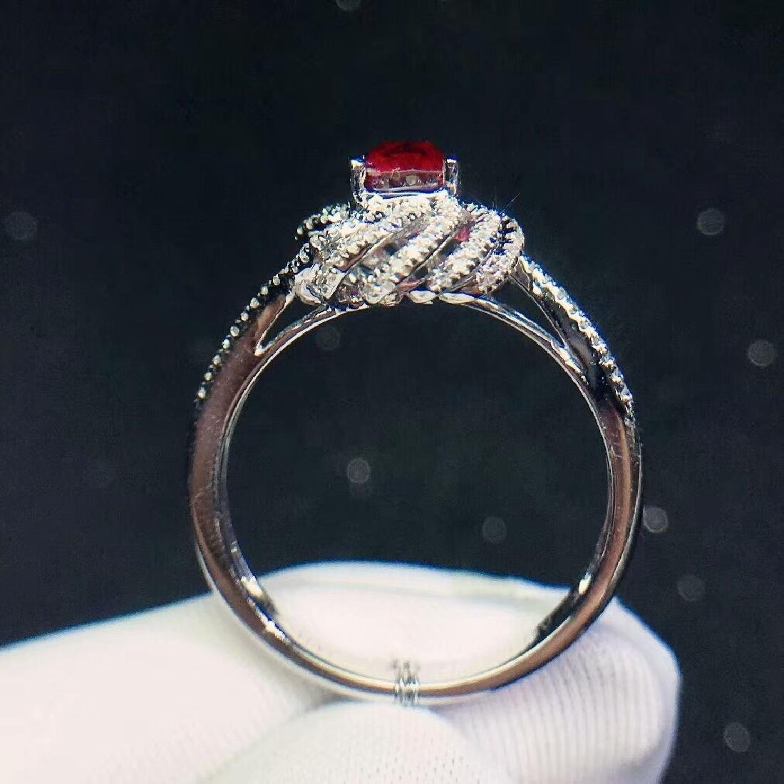 1.1ct SpinelRing in 18kt white Gold - 6