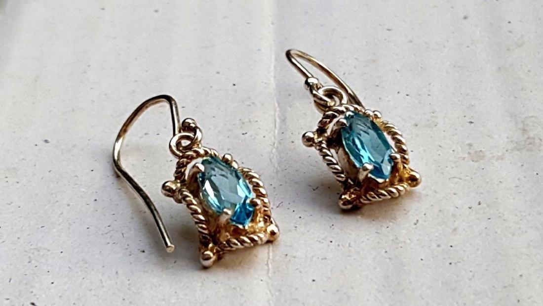 Blue Topaz Earrings - 2
