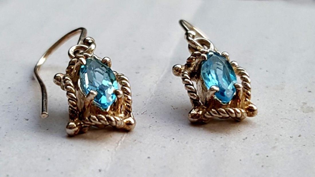 Blue Topaz Earrings - 5