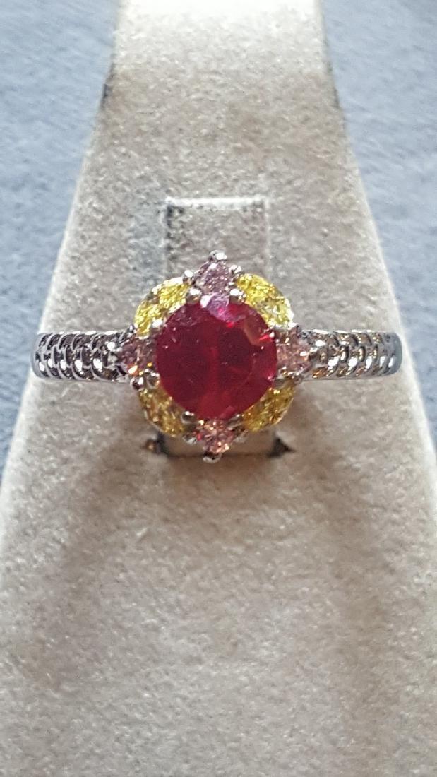 2 ct Ruby 925 Ring