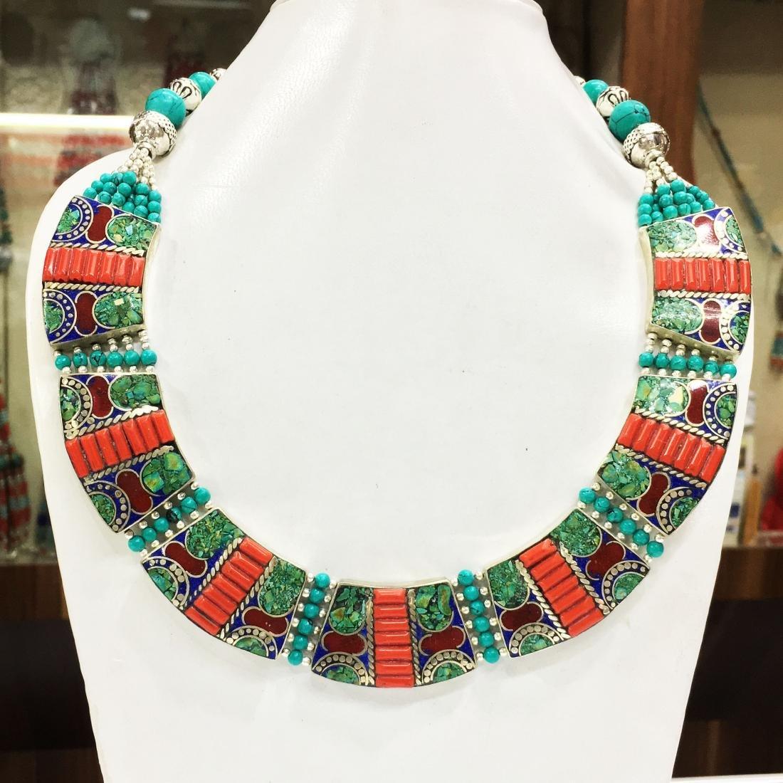 Tibetan Coral Unique Handmade Necklace