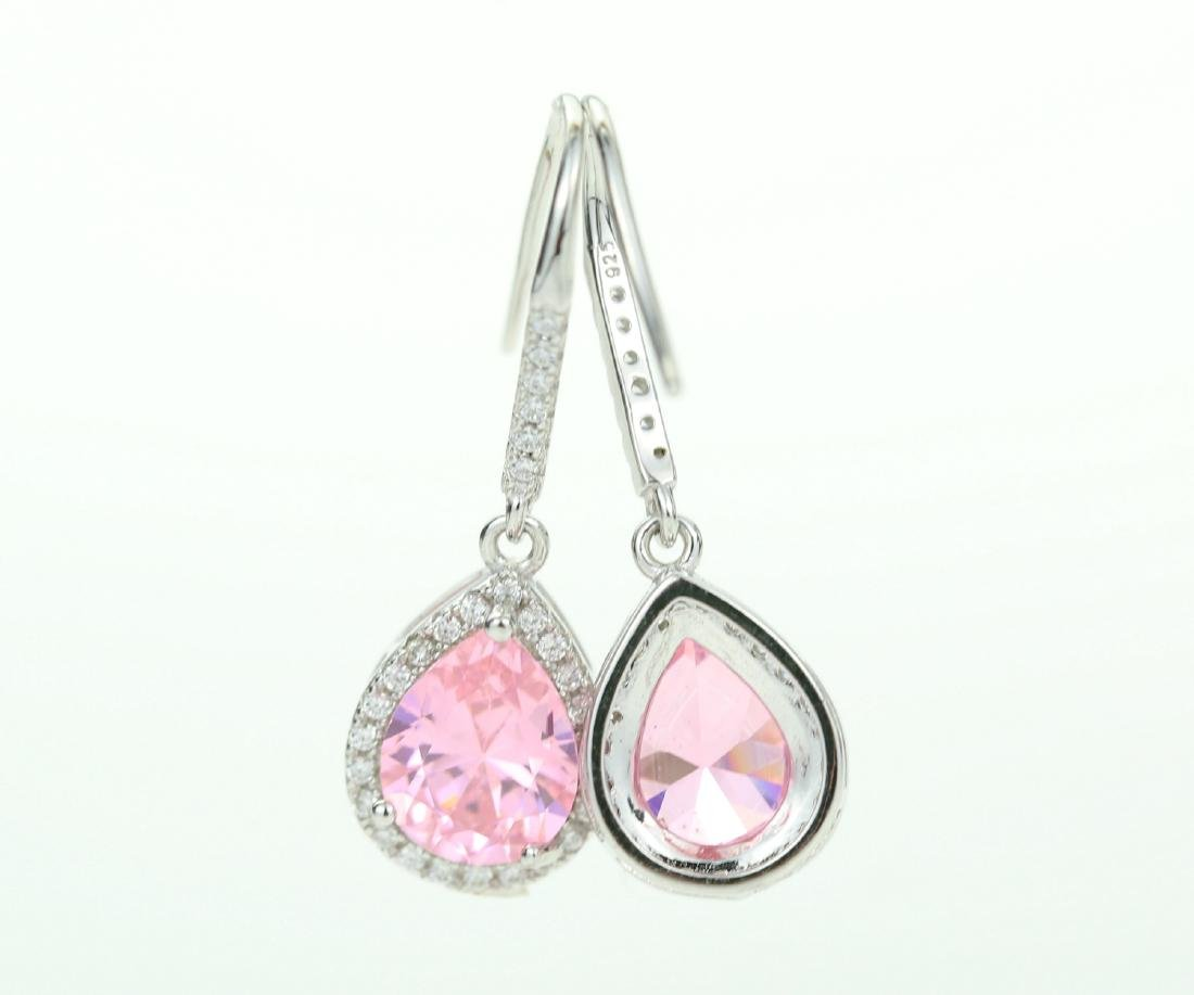 Exquisite 925 silver earing with zircon - 3