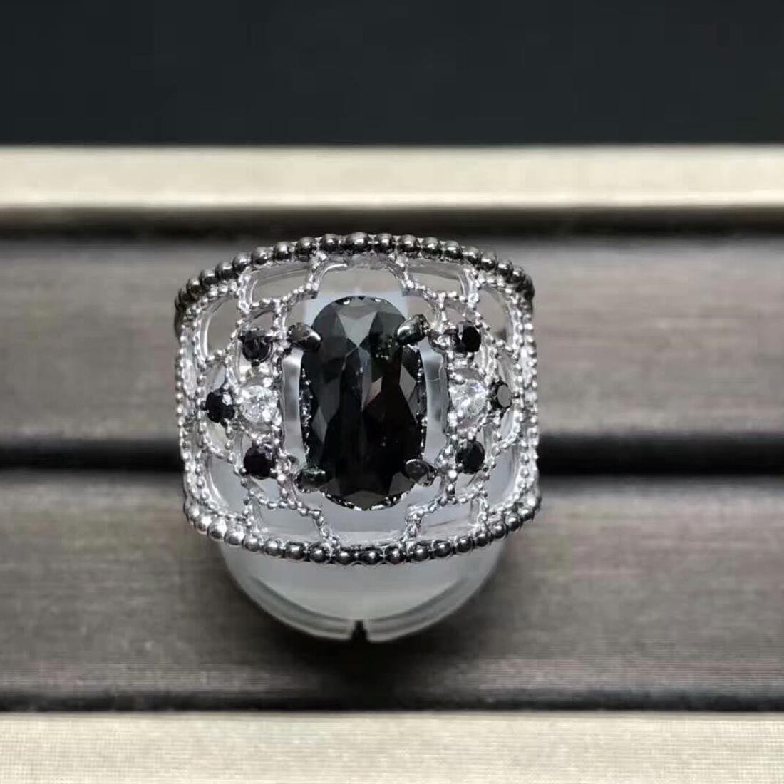 3.16ct Black Diamond Ring in 18kt White Gold