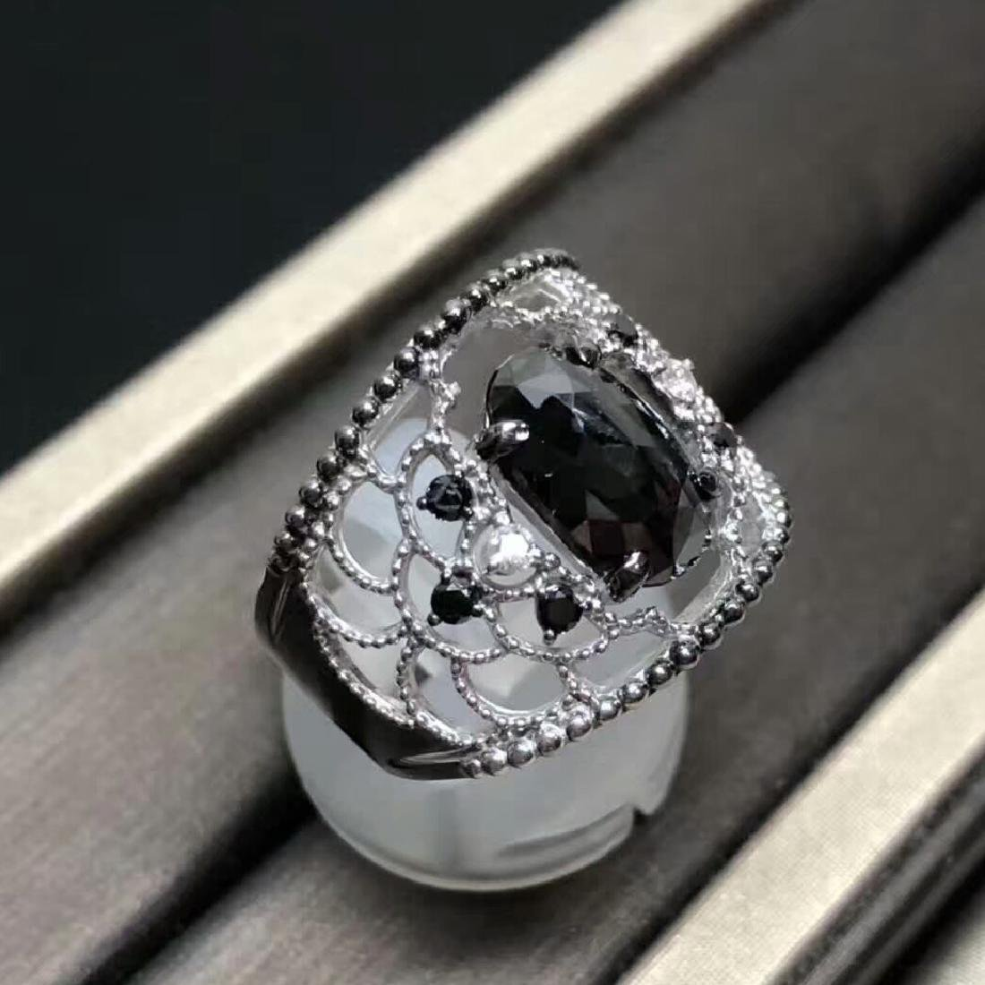 3.16ct Black Diamond Ring in 18kt White Gold - 2