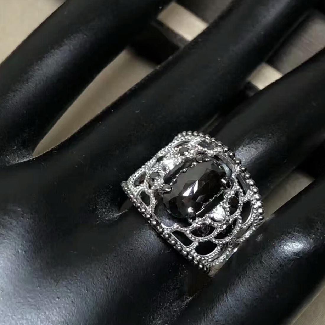 3.16ct Black Diamond Ring in 18kt White Gold - 3