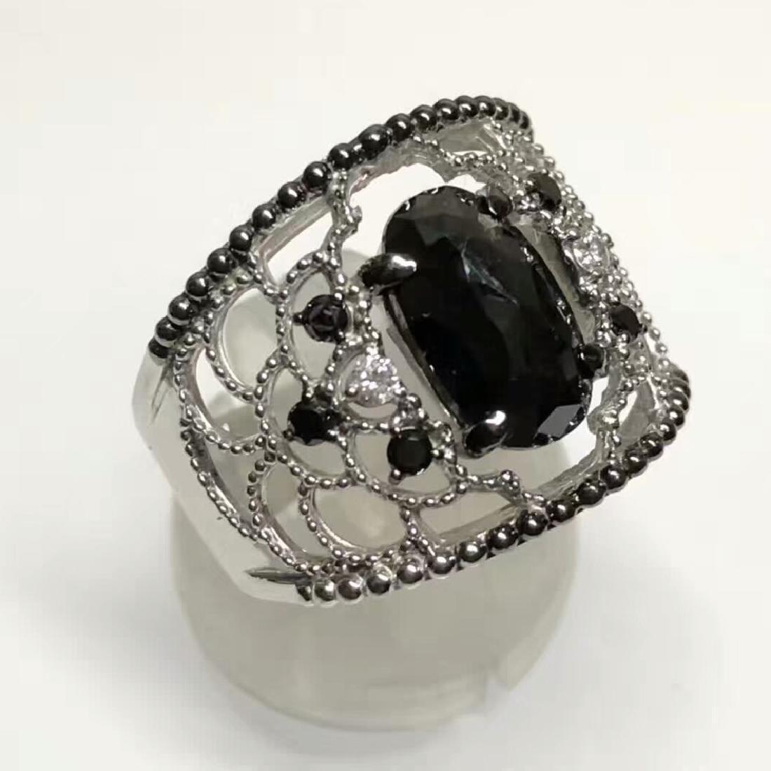 3.16ct Black Diamond Ring in 18kt White Gold - 4