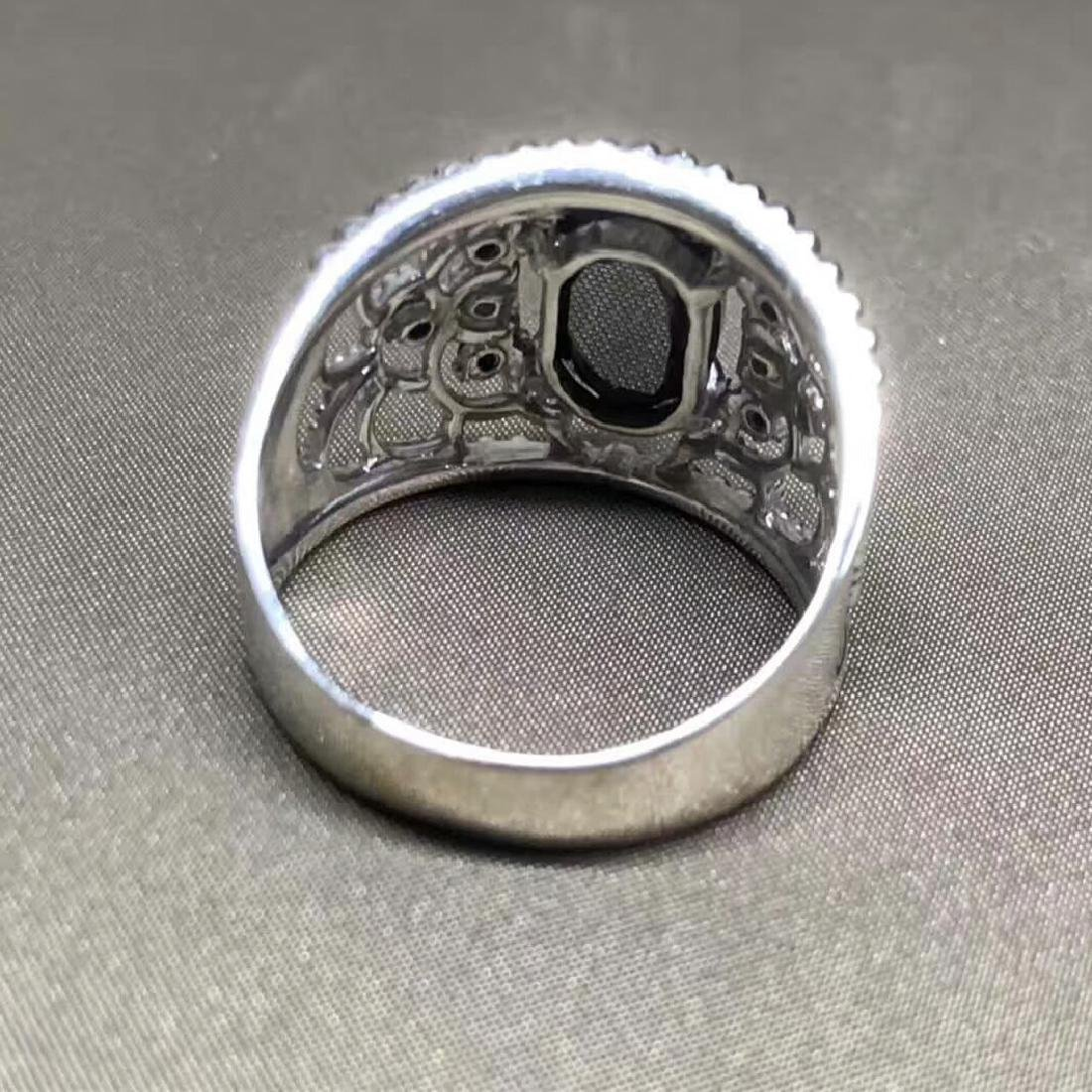 3.16ct Black Diamond Ring in 18kt White Gold - 6
