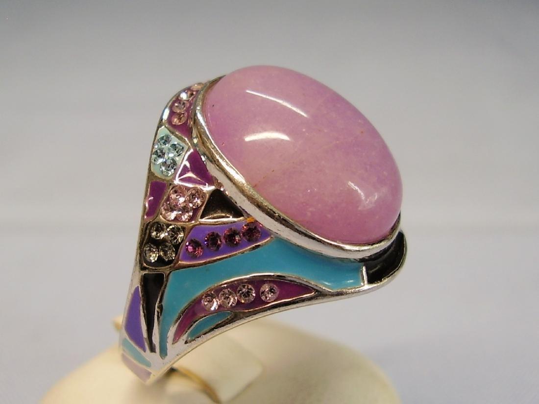 Jade and Enamel Ring