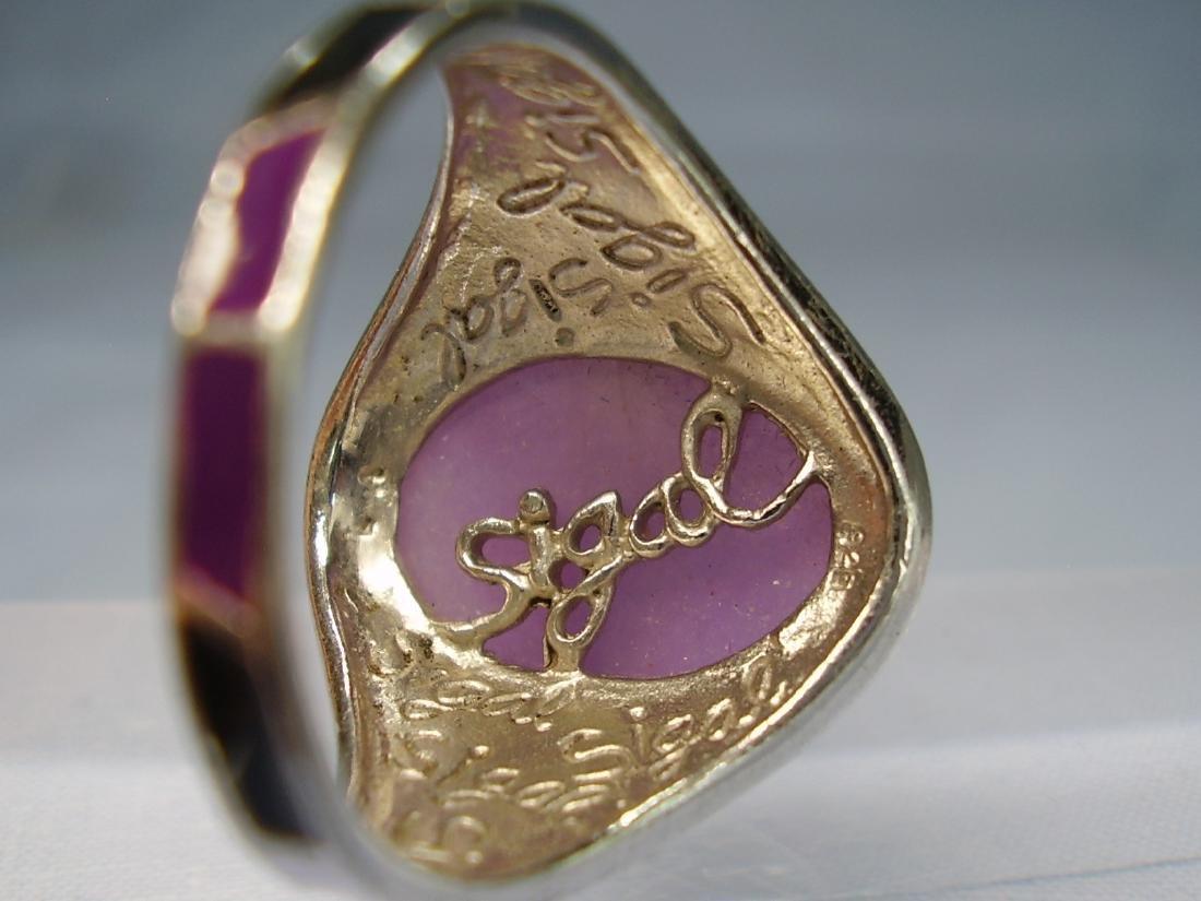 Jade and Enamel Ring - 3