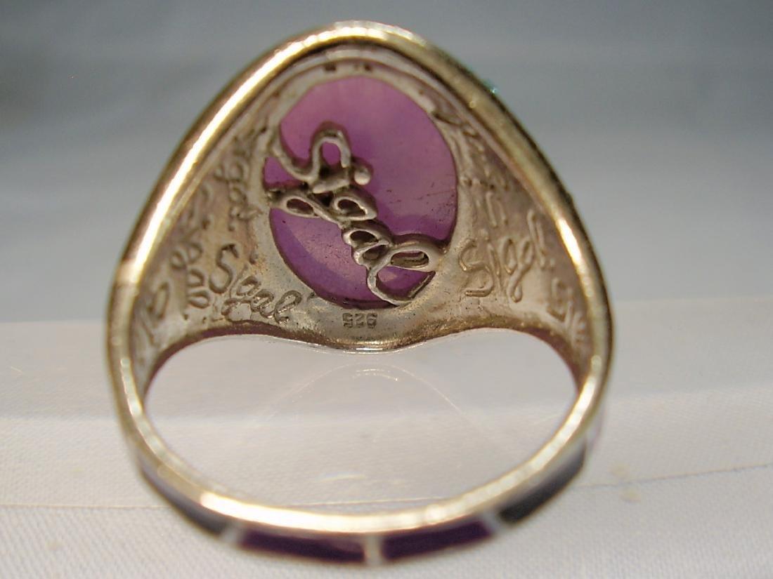 Jade and Enamel Ring - 4