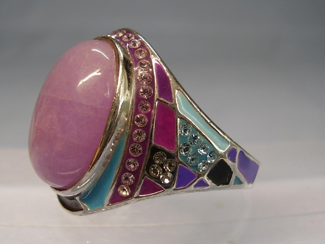 Jade and Enamel Ring - 5