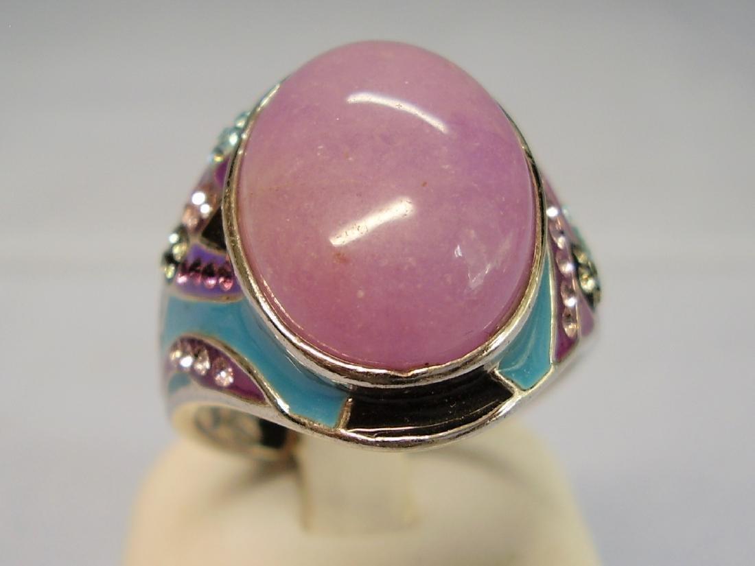 Jade and Enamel Ring - 7