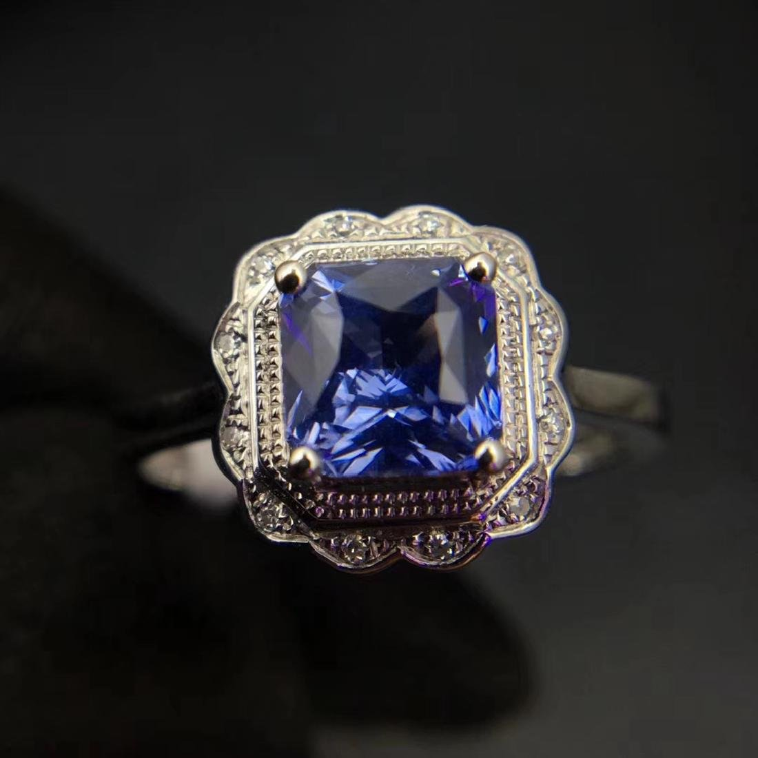 1.24ct Sapphire Ring in 18kt White Gold