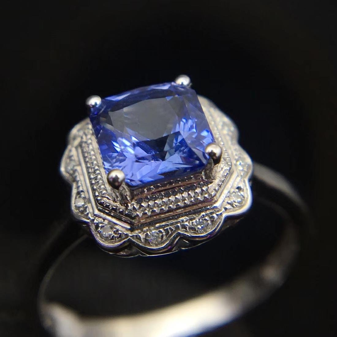 1.24ct Sapphire Ring in 18kt White Gold - 4