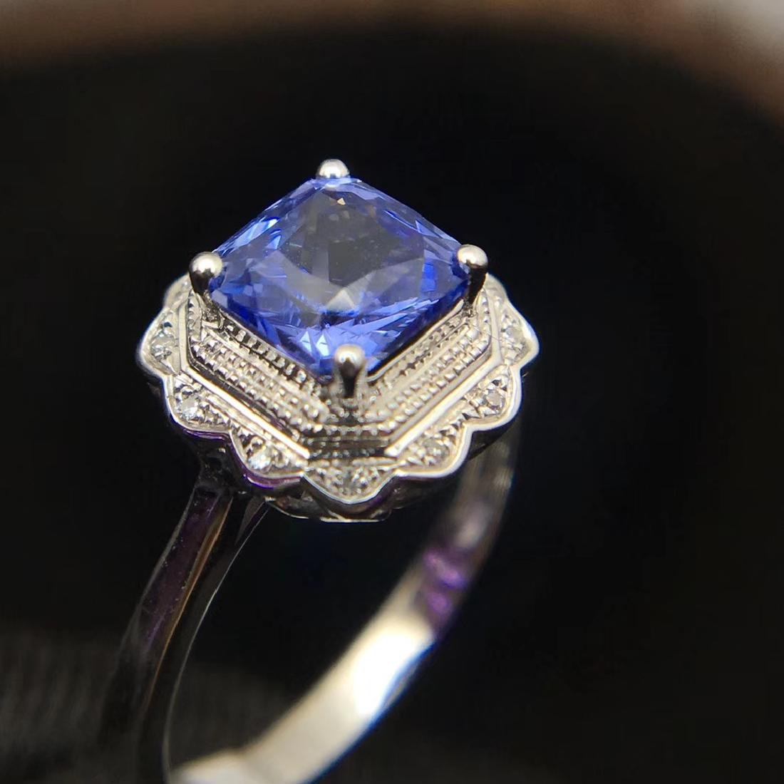 1.24ct Sapphire Ring in 18kt White Gold - 5