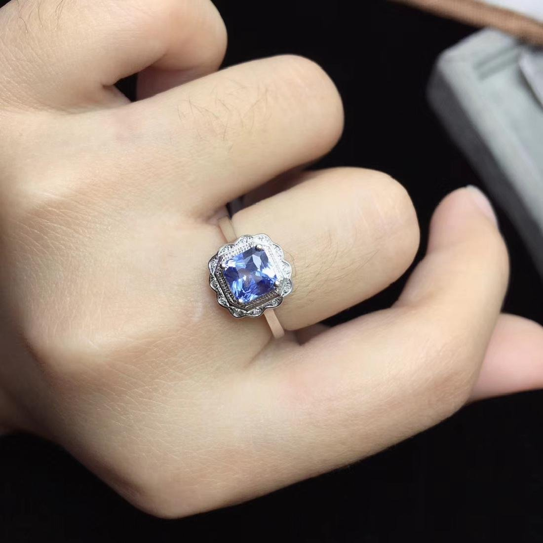 1.24ct Sapphire Ring in 18kt White Gold - 6