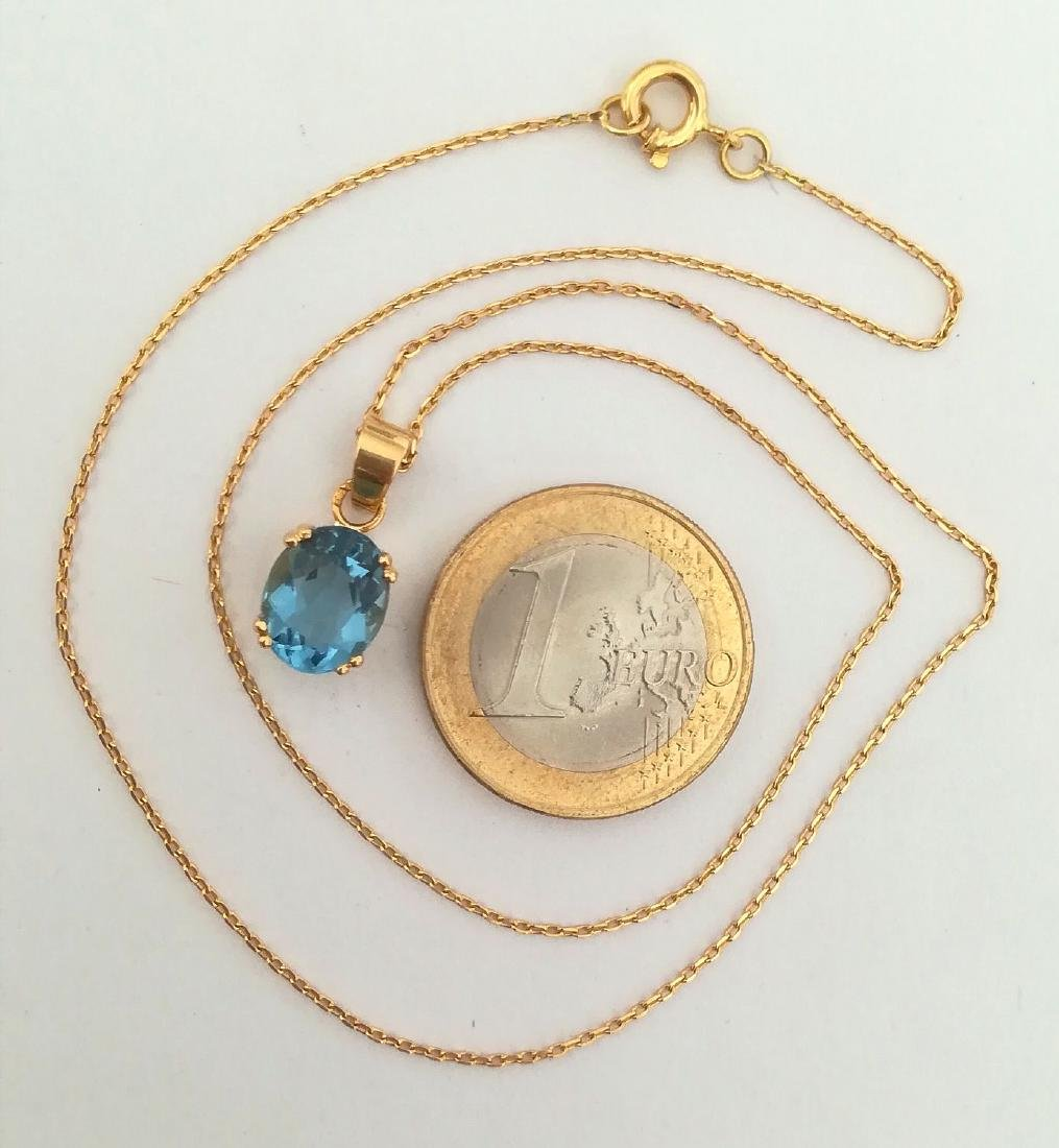 19.2 carat gold necklace With Topaz 10x8mm - 3.7 grams - 7
