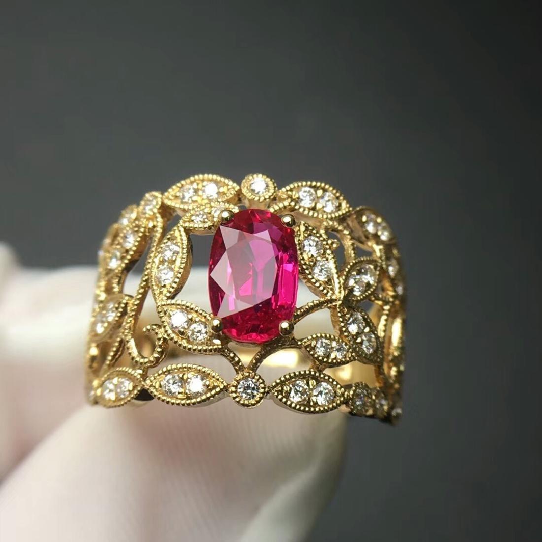 1.0 CTW Tourmaline & VS Diamond Ring 18K