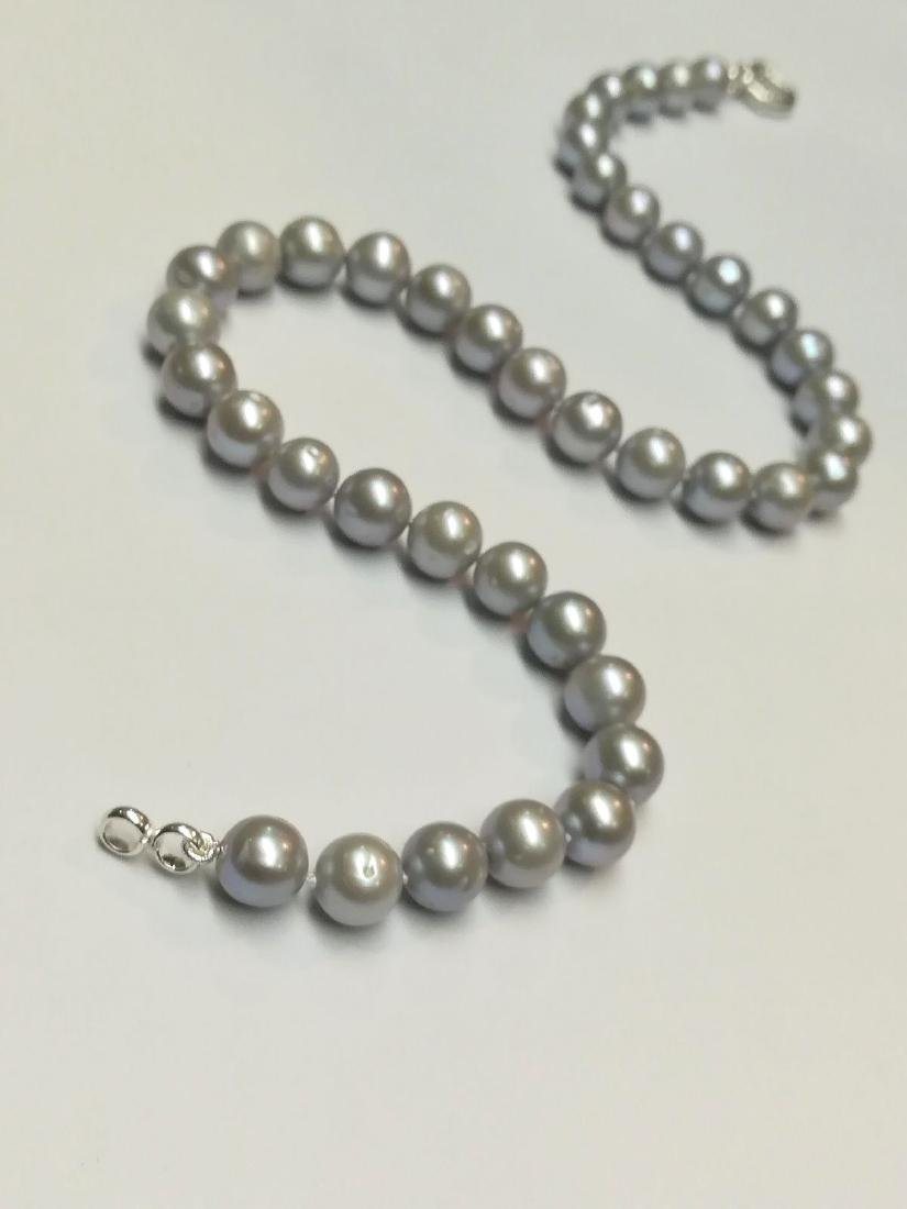 Necklace made of saltwater cultured pearls with silver - 3