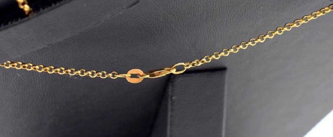 18 carat yellow gold necklace with diamon and ruby - 5