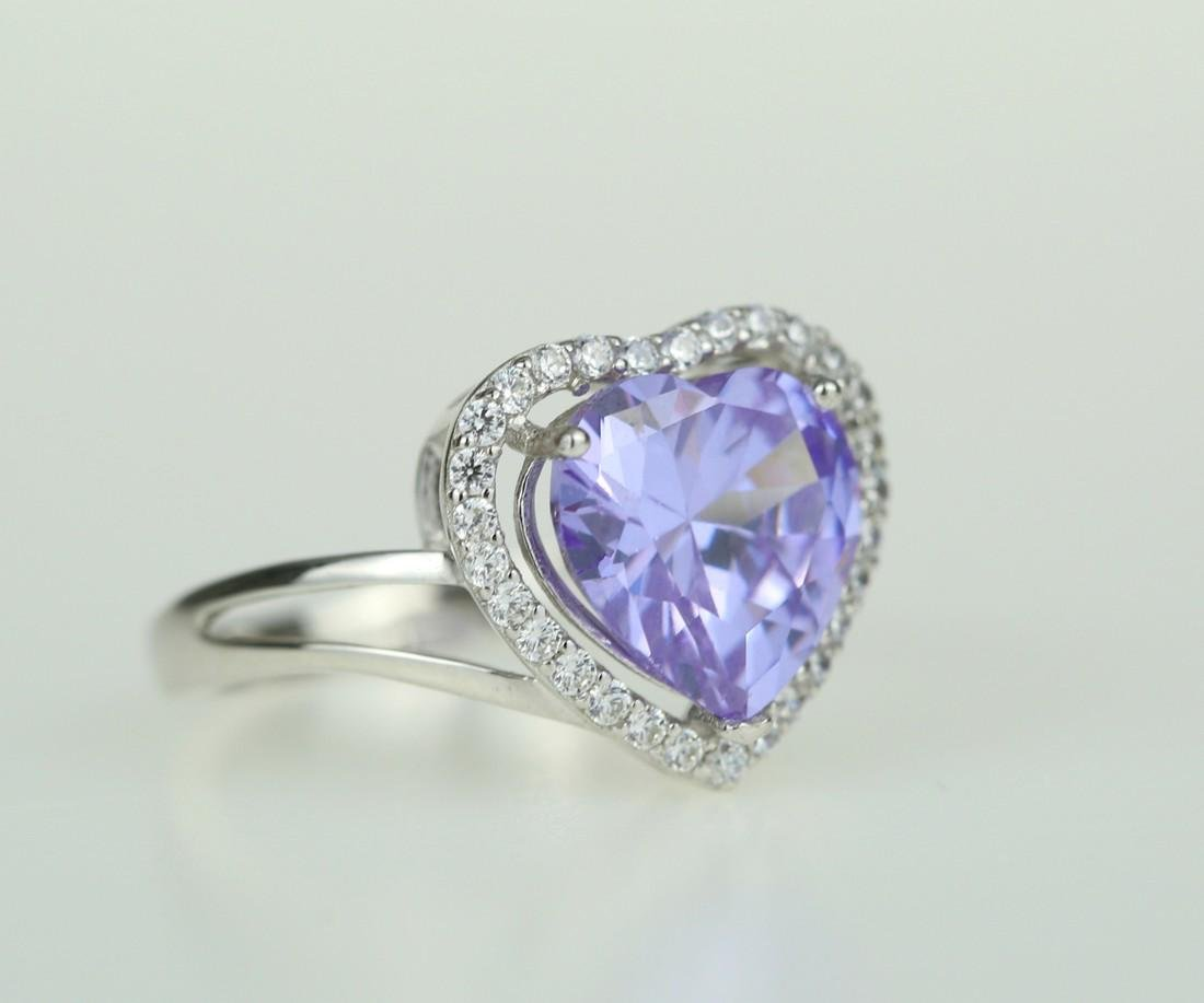 Exquisite 925 silver ring with zircon - 2
