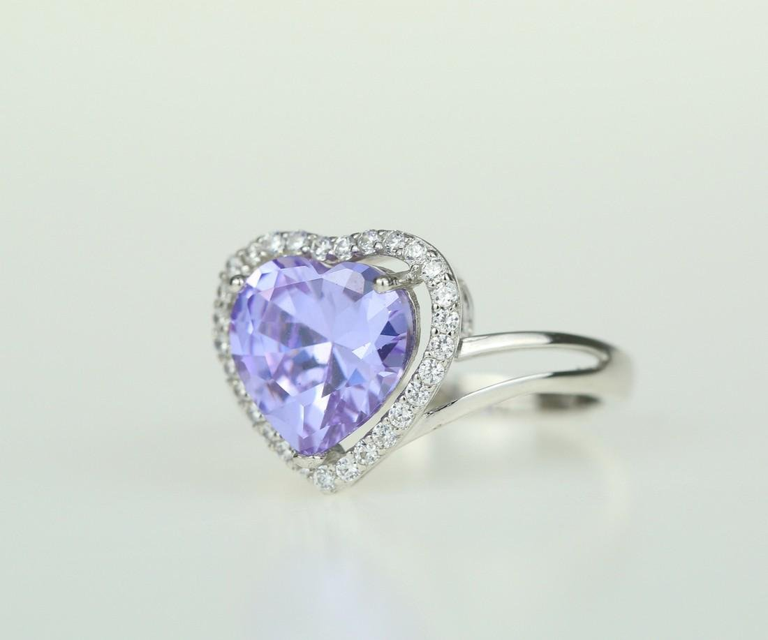 Exquisite 925 silver ring with zircon - 3
