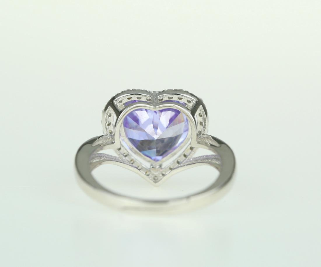 Exquisite 925 silver ring with zircon - 4