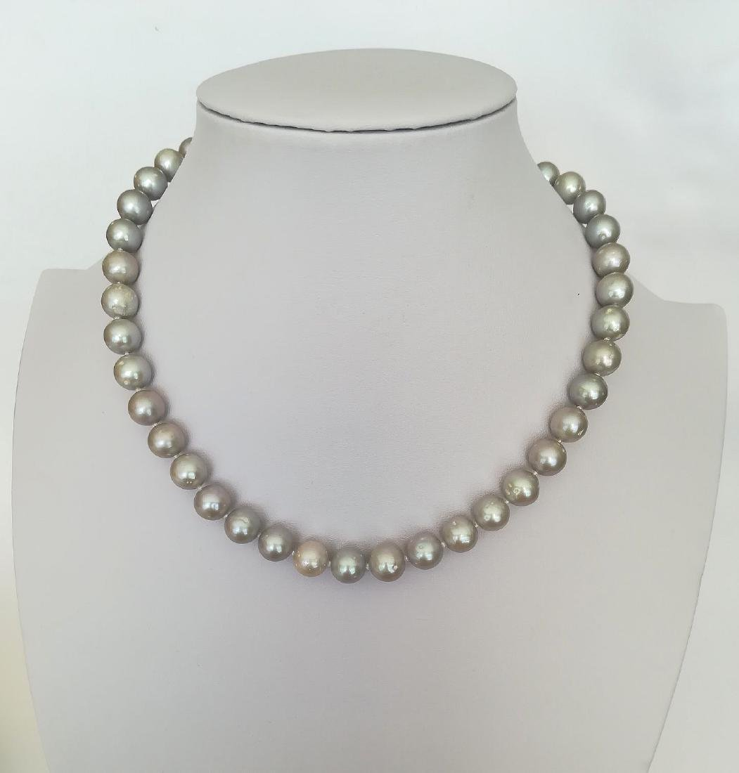 Necklace pearl salted water with gold clasp 19.2 carat - 3