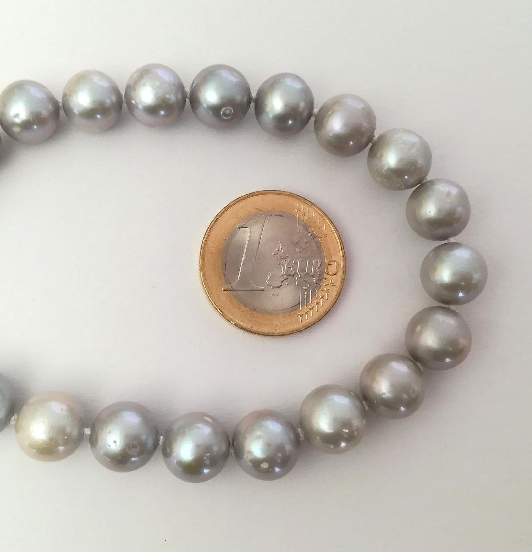 Necklace pearl salted water with gold clasp 19.2 carat - 7