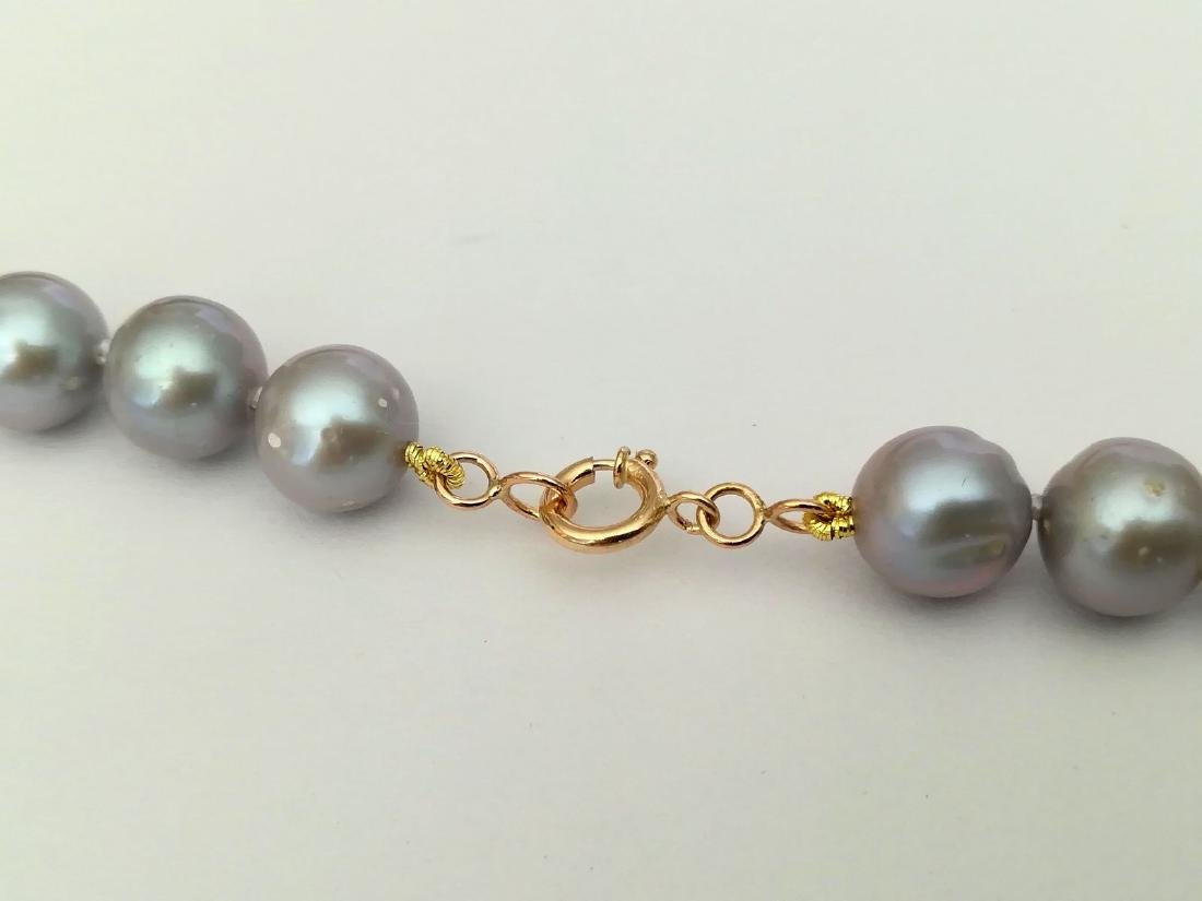 Necklace pearl salted water with gold clasp 19.2 carat - 9