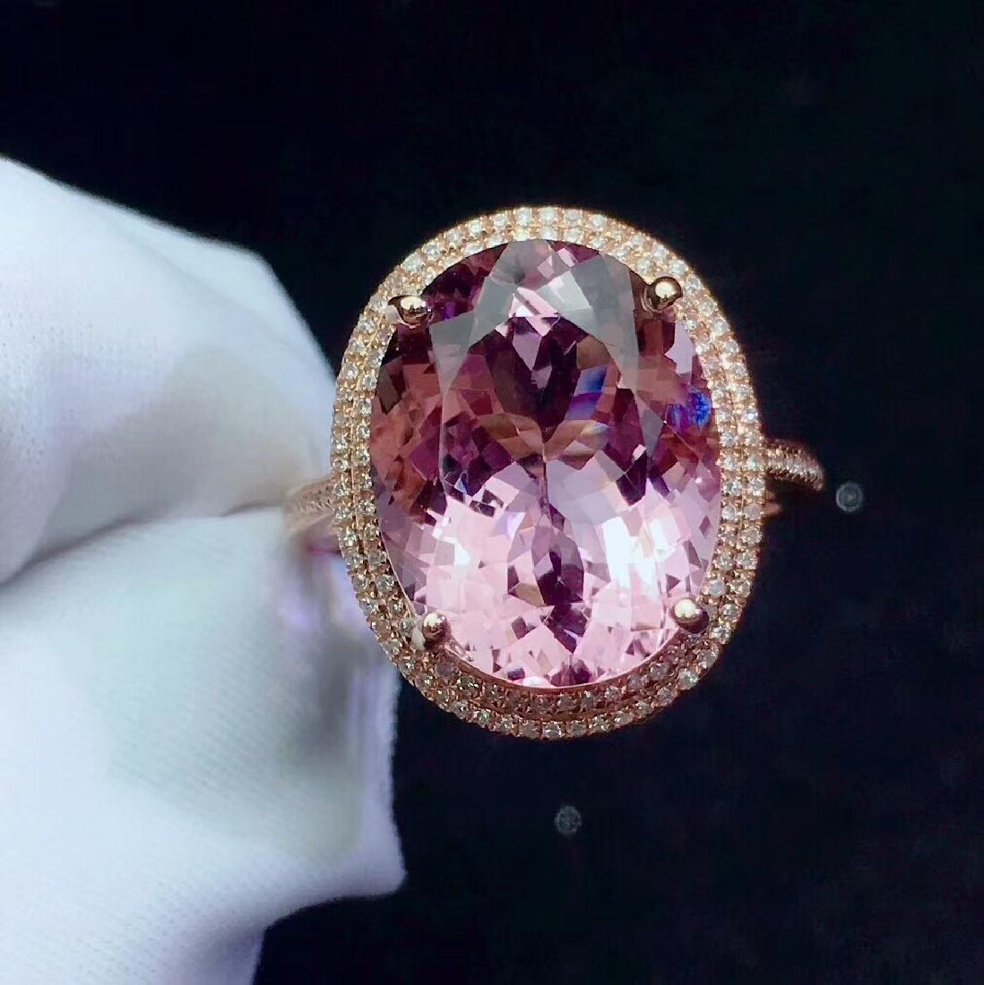 8.9ct Morganite Ring in 18kt white Gold