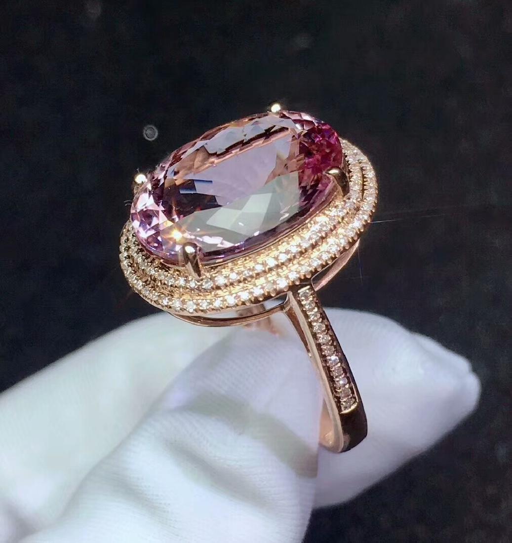 8.9ct Morganite Ring in 18kt white Gold - 5