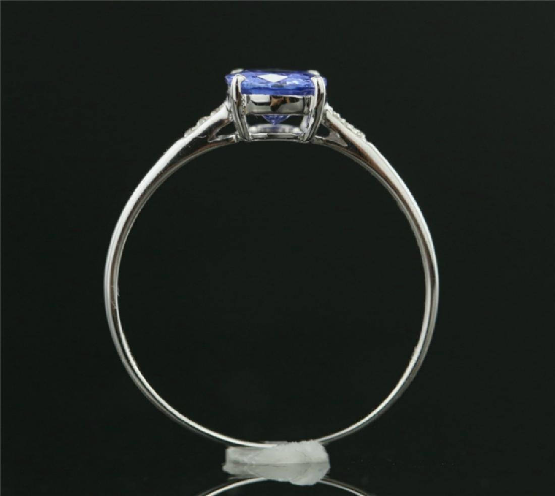 Tanzanite ring with 18k white gold - 4