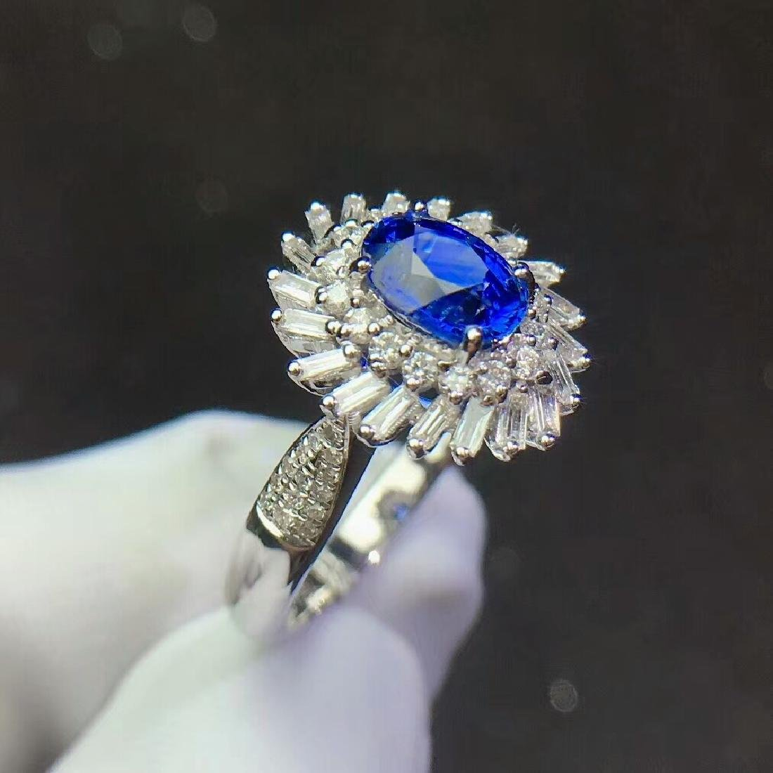 1.3ct Sapphire Ring in 18kt White Gold - 4